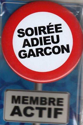 Badge Geant Metal 11 cm Soirée Adieu Garcon
