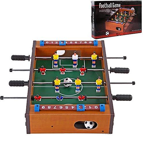 Ydq Futbolin Juego Juguetes, Mesa de Madera Soccer Games Toy, Foosball de Sobremesa Infantil para Ninos,Juego de Rompecabezas Entre Padres e Hijos