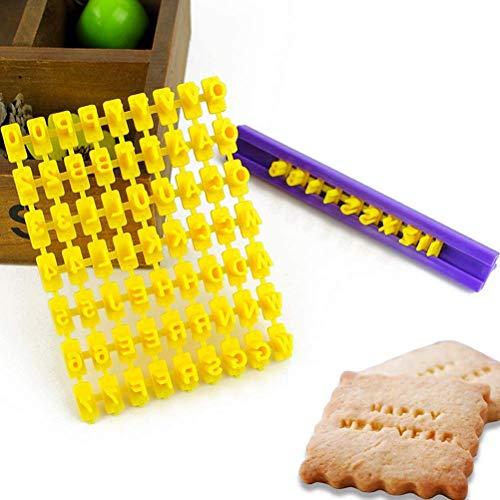 Crazy Bean Lettere Pasta Zucchero Stampini Per Pasta Zucchero Lettere Cake Design Stampo Biscotti Stampini Alfabeto Cookie Stamp