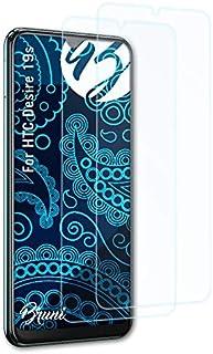 Bruni Skärmskydd är kompatibel med HTC Desire 19s Film, kristallklart Skyddsfilm (2X)