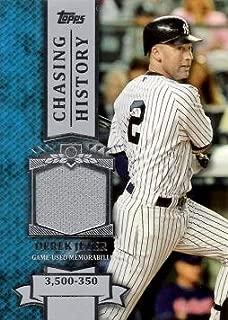 2013 Topps Chasing History Relics #CHR-DJ Derek Jeter Game Worn Jersey Baseball Card