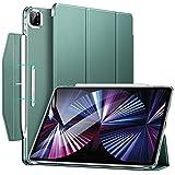 ESR Trifold Hülle mit Ständer kompatibel mit iPad Pro 11 2021, Trifold Standhülle, Auto Schlaf-/Weckfunktion, Grün
