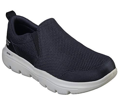 Skechers GO WALK EVOLUTION ULTRA IMPEC, Men's Slip On Trainers, Blue (Navy TextileGray Trim Nvgy), 43 EU