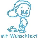 Babyaufkleber mit Wunschtext - Motiv 161 - 20 Farben und 11 Schriftarten wählbar