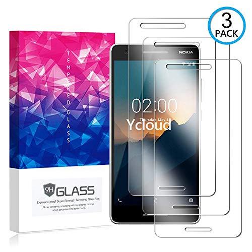 Ycloud [3 Pack] Pellicola Protezione di Schermo per Nokia 2.1 (2018),[9H Dureza/0.3mm],[Alta Definicion] Vetro temperato Pellicola Protettiva per Nokia 2.1 (2018)