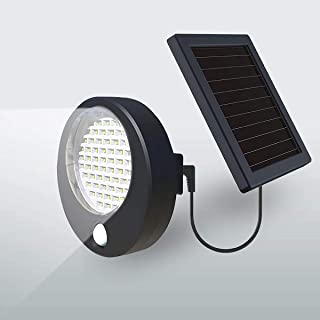 BBZZ Lampe solaire de sécurité à 66 LED avec détecteur de mouvement PIR - Éclairage d'extérieur de sécurité IP65