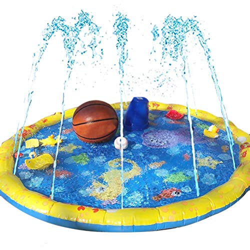 Splash Pad Watermat, Splash Pad 59 inch Sprinkler en Splash Play Mat, zomer tuin waterspeelgoed voor baby, kinderen, hond en huisdieren