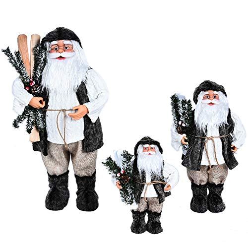 ALXDR 3 Pack Santa Claus - Christmas Santa Figurine Decoration Xmas Decor Collectibles Ornament, for Holiday Party Home Offices Decoration