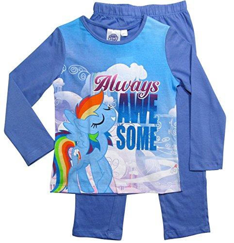 My Little Pony Kollektion 2017 Pyjama 92 98 104 110 116 122 128 Mädchen Schlafanzug Neu Lang Rainbow Dash Fliederblau (Fliederblau, 98-104)