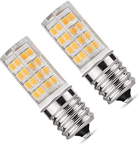 E17 LED Bulb for Microwave Oven  Kitchen Appliance Light Bulb  Stovetop Light 4 Watt (40W Halogen Bulb Equivalent)  Warm White 3000K  E17 Indicator Intermediate Base  Dimmable (Pack of 2).