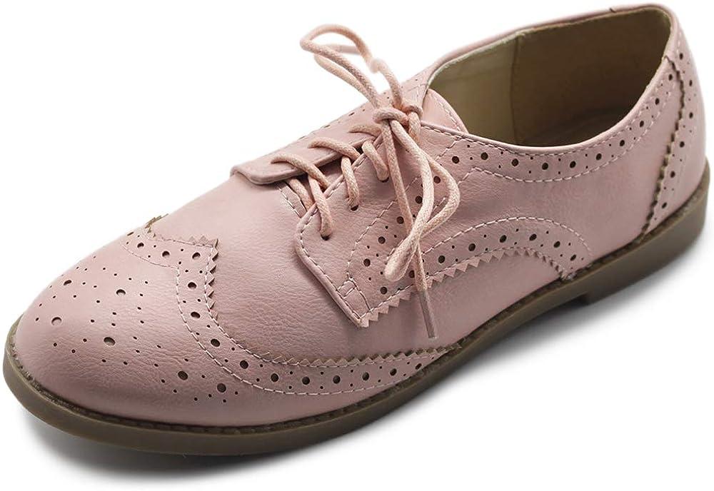 Ollio Women's Flats Shoes Wingtip Oxfords Popular popular Las Vegas Mall Lace Up