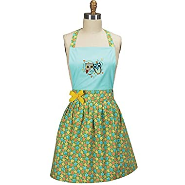Kay Dee Designs Life's a Hoot Owl Embroidered Girlie Apron