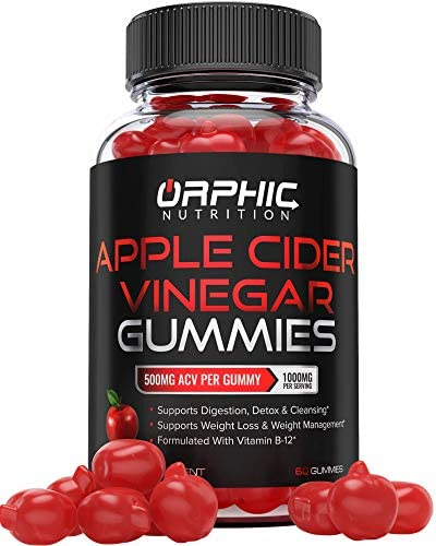 Apple Cider Vinegar Gummies – 1000mg – Formulated for Weight Loss, Energy Boost & Gut Health – Supports Digestion, Detox & Cleansing – Natural Acv Gummies W/ VIT B12, Beetroot & Pomegranate