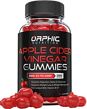 Apple Cider Vinegar Gummies - 1000mg - Formulated for Weight Loss Energy Boost & Gut Health - Supports Digestion Detox & Cleansing - Natural Acv Gummies W/ VIT B12 Beetroot & Pomegranate