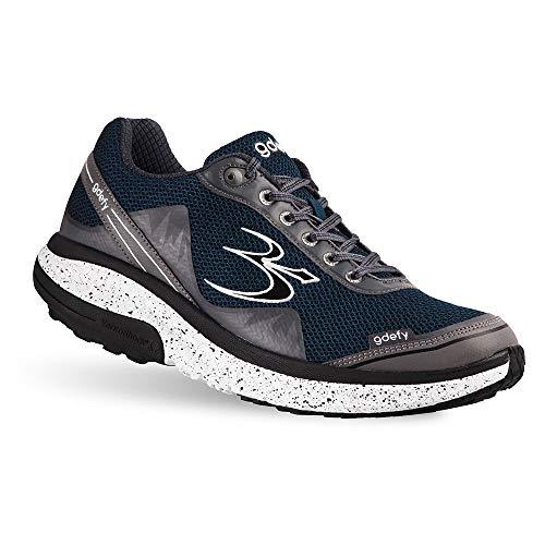 Gravity Defyer Proven Pain Relief Men's G-Defy Mighty Walk 10.5 W US - Comfortable Men's Walking Shoes for Plantar Fasciitis, Heel Pain, Knee Pain Blue, Gray