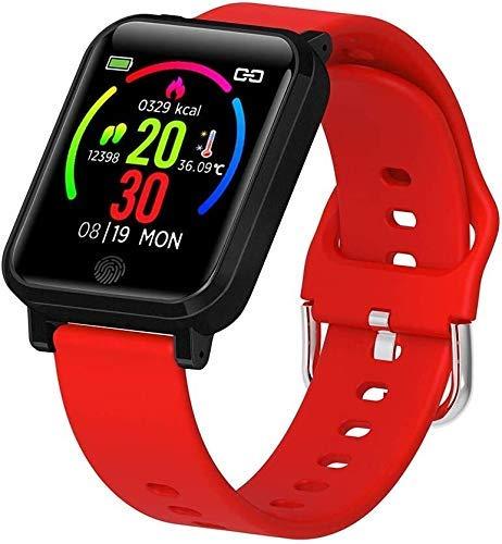 TIANYOU Fitness Tracker F29 Pulsera Inteligente con Monitor de Temperatura 1.3 Pulgadas Impermeable Deporte Smartwatch Termómetro Reloj Inteligente con Ritmo Cardíaco Monitor de...