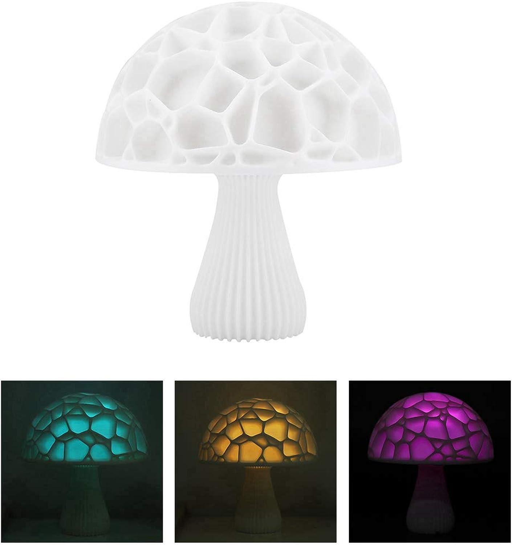 LNHYX Led Rgb Pilzform Nachtlicht Lampe Bunte Schne Dekoration Nachtlicht Mit Usb Aufladbar Für Geschenk