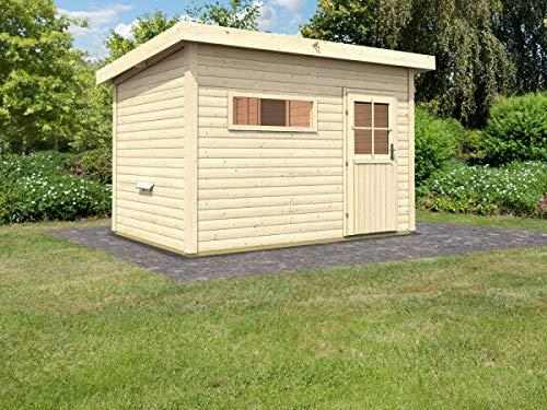 SAUNELLA Sauna Haus mit Ofen | Gartensauna - Saunakabine Maße: 330 x 231 x 226 cm | Saunaofen Komplett Sauna Zubehör | Saunaofen mit int. Steuerung