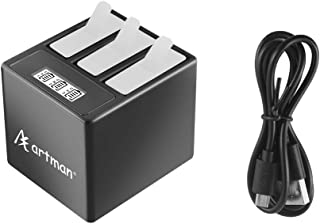 Artman GoPro Hero 5/6/7 3-Channel Box LED USB Charger with Type-C Port (Without Battery) for GoPro Hero 5,Hero 5 Black AHDBT-501, AHBBP-501,Hero 6 Black,Hero 7 Black