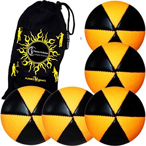 Astrix UV - Lote de 5 pelotas de malla, color negro y naranja