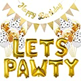 LETS PAWTY Hundehaustier-Party-Ballon-Paket-Haustier-Wand-Dekorations-Geburtstags-Party -