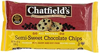 Chatfields Semi Sweet Chocolate Chips, 10 Ounce - 12 per case.