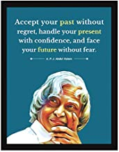 Chaka Chaundh - APJ Abdul Kalam Quotes Poster – Abdul Kalam photo frame for OFFICE WALL, SCHOOL, STUDY ROOM, COLLEGE, INSTITUTE, STUDENT, ENTREPRENEUR, CLASSROOM & HOME - Motivational Frames For Office - abdul kalam gifts - Abdul kalam Painting with Frame - Abdul Kalam framed painting (34 cm x 27 cm x 4 cm)…