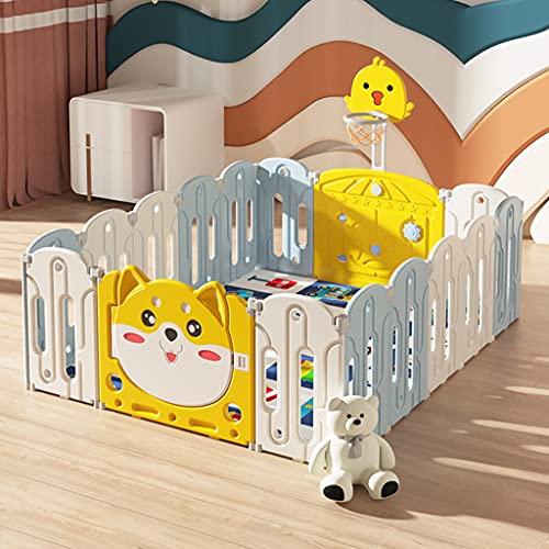 Baby Playpen Baby Crawling Mat Indoor Inicio Plegable Seguridad Safetero Cerca De Protección Parque De Diversiones Infantiles(Size:14+2 Pieces,Color:B)