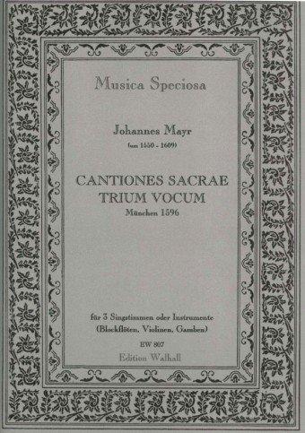 Cantiones sacrae trium vocum : für 3 Stimmen (Blockflöten/Violinen/Gamben) 2 Partituren