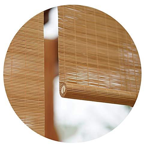 LIANGJUN bamboe gordijn rolgordijn rolgordijn Romeinse venster tinten licht filteren winkel achtergrond muur balkon zonnebrandcrème stofdichte huisdecoratie, op maat maat