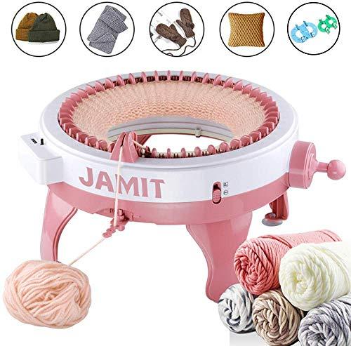 JAMIT Strickmaschine, 48 Nadeln Strickmaschine mit Reihenzähler, große DIY-Doppelstrickmaschine für Socke, Mütze und Schal, Handstrickmaschine für Kinder und Erwachsene