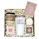 Birthday Gifts for Friends Female - Women Gifts for Birthday - Bday Skin Care Spa Bath Set w/Tumbler - Happy Birthday Gifts for Women - Birthday Gift Basket for Women - Happy Birthday Box for Her