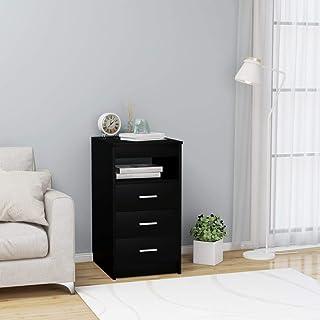 Festnight Armoire à tiroirs Noir Meubles de Rangement Armoire de Bureau 40x50x76 cm Aggloméré