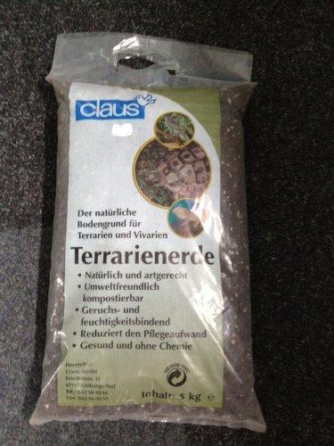claus Terrarienerde 5kg Der natürliche Bodengrund für Terrarien und Vivarien