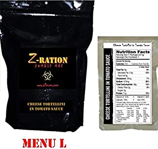 MRE Z-Ration (Zombie MRE) Custom Meals Ready to Eat! (MENU L - Cheese Tortellini)