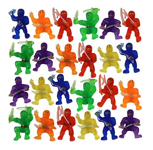 Mini Ninja Warrior Toys Assorted Color Action Figures (24)