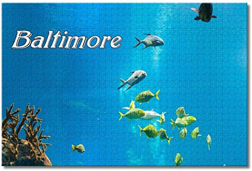 Nicoole USA America Aquarium Baltimore Puzzles für Erwachsene Kinder 1000 Stück Holzpuzzlespiel für Geschenke Home Decoration Special Travel Souvenirs