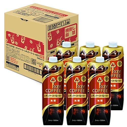 リキッドコーヒーテトラプリズマ 無糖 1L×6本 紙パック