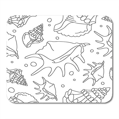 Muis Pad Grijs Aquarium Patroon Van Schelpen Op Strand Schoonheid Bodem Office Mousepad 25X30Cm Decor Nonslip Rubber Achterkant Muis Mat Gaming Mouse Pad