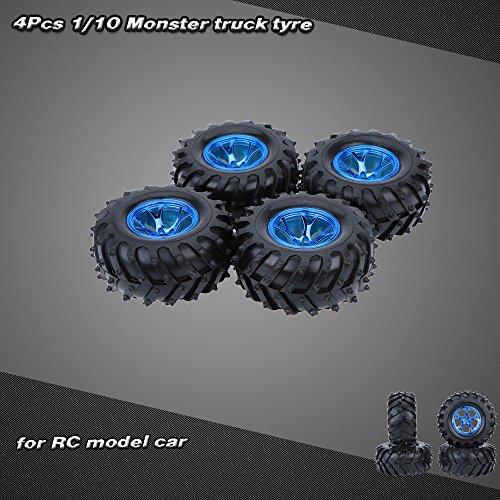 4ST Satz 1 10 Monster Truck Reifen für Traxxas HSP Tamiya HPI Kyosho RC Modellauto