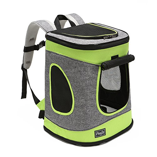 Petsfit Sturdy Hiking Pet Carrier Backpack for...