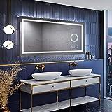 Artforma Miroir de Salle de Bain LED 120x70 avec éclairage - Couverture(Slimline) - Personalizer - sur Mesure - Lumière Illumination - Lumineux Miroir avec Éclairage intégré L15