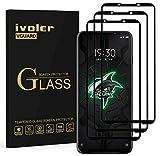 ivoler 3 Stücke Panzerglas Schutzfolie für Xiaomi Black