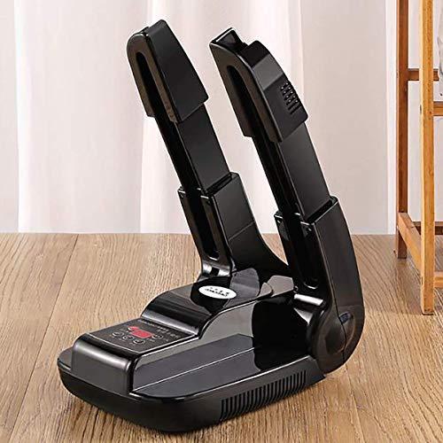 FGDSA Secador de Zapatos eléctrico Plegable multifunción, Calentador de secador de Botas, Calentador de Aire Caliente, temporización, deshumidificador deshumidificador de Secado rápido, Negro