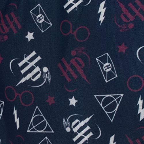 HARRY POTTER Pijamas de Manga Corta para Niñas Hogwarts Azul 12-13 Años