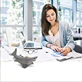 ANIMMO Shark Style Desktop Tape Dispenser with Steel Teeth Tape Cutter, Tape Holder with Velveted Cloth Bottom for Desk Accessories Office and Home