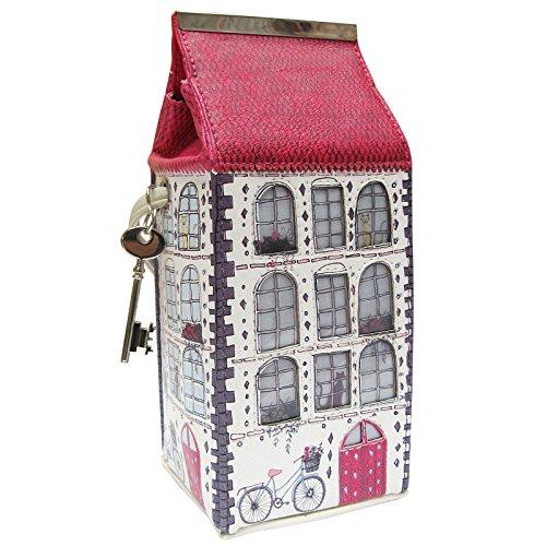 Disaster House of Home - Bike - Mini Bag/außergewöhnliche Damen-Handtasche in Form eines Hauses und Größe einer Milchtüte