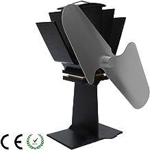 Estufa de leña con calefacción eléctrica Ventilador ecológico - Quemador de registro ultra silencioso / Chimenea-Chimenea ecológica Flujo de aire de madera Quemador de leña accionado por calor,Silver