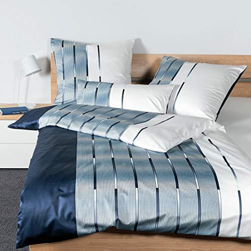 Janine Design Interlock Feinjersey Bettwäsche Carmen S 55026-02 nachtschattenblau 1 Bettbezug 135 x 200 cm + 1 Kissenbezug 80 x 80 cm