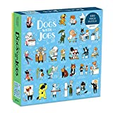 """Galison Dogs with Jobs Puzzle, 500 Pieces, 20"""" x 20"""" – Jigsaw Puzzle Featuring an Amusing Illustration of Dogs – Thick, Sturdy Pieces, Challenging Family Activity, Great Gift Idea"""